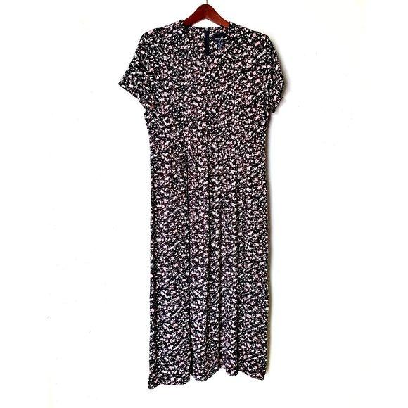90s Asian Print Maxi Dress L-XL 1990s Tank Sleeveless